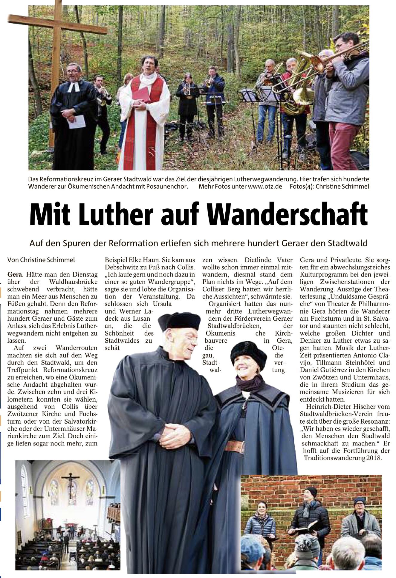 Mit Luther auf Wanderschaft