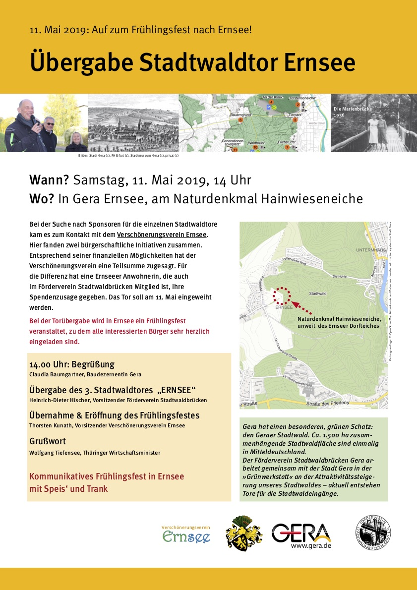 Übergabe Stadtwaldtor Ernsee